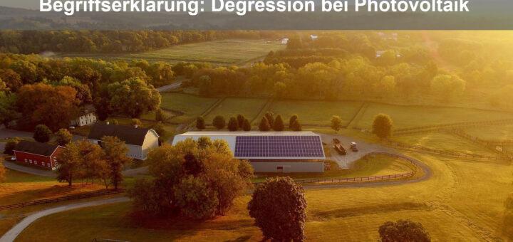 Degression bei der Photovoltaik-Anlage (EEG Tarife)